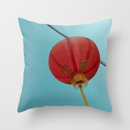 Chinese Lantern in Chinatown LA Throw Pillow