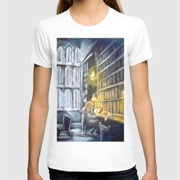 Hermione studying in the library T-shirt