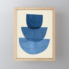 Abstract Shapes 37-Blue Framed Mini Art Print