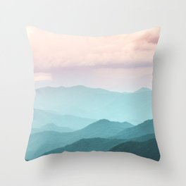 Smoky Mountain National Park Sunset Layers II - Nature Photography Throw Pillow