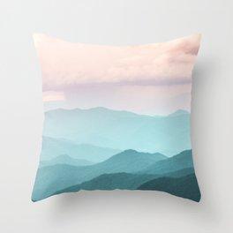 Smoky Mountain National Park Sunset Layers II - Nature Photography Throw Pillow