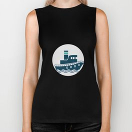 I Like Big Boats And I Cannot Lie Boating Funny Biker Tank