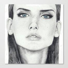 Dasha Dogusheva with Blue Eyes Canvas Print