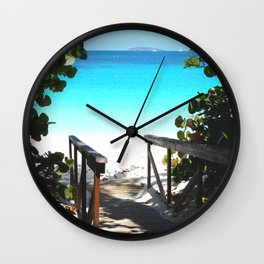 Trunk Bay walkway to beach, St. John Wall Clock