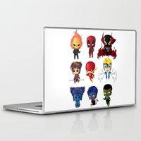 nightcrawler Laptop & iPad Skins featuring Chibi Heroes Set 2 by artwaste