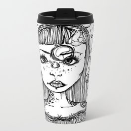 Mushroom Girl Metal Travel Mug