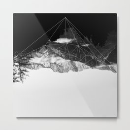 Crystal Mountain Metal Print