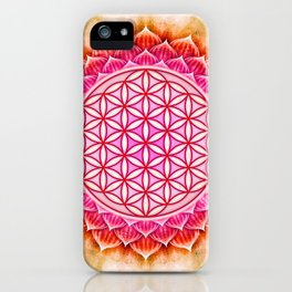 Flower Of Live - Lotos iPhone Case