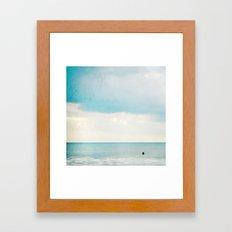 The surf, revisited Framed Art Print