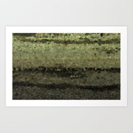 Wood and stone layers abstract pattern Art Print