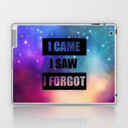 i came isaw i forgot funny quote Laptop & iPad Skin