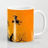 jack skellington Mugs featuring Halloween Jack Skellington  by Raisya
