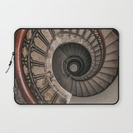 Spiral staircase in pastel brown tones Laptop Sleeve