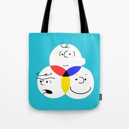 Charlie Brown, colour wheel Tote Bag