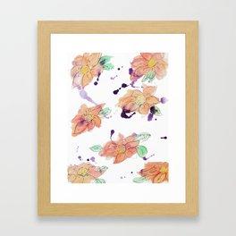 blazz studios: Watercolour Flowers Framed Art Print