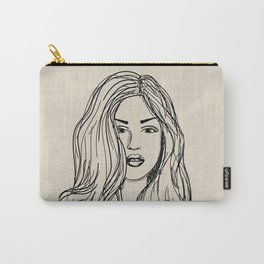 Hand drawn woman with long hair Carry-All Pouch