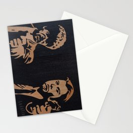 Pulp fiction movie marquetry art Stationery Cards
