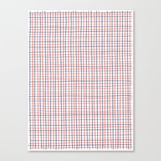 French Grid Canvas Print