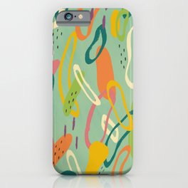 Abstract Summer Citrus Pattern iPhone Case