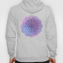 big paisley mandala in light purple Hoody