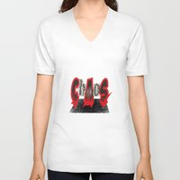chaos V-neck T-shirts featuring Chaos by Rocky Rock