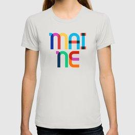 Maine State Mid Century, Pop Art Mondrian T-shirt