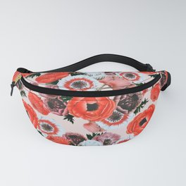 summer poppies pattern Fanny Pack