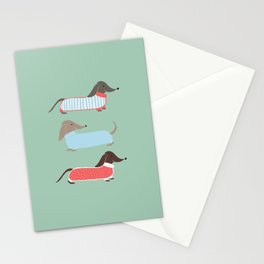 Sausage Dogs in Jumpers Stationery Cards