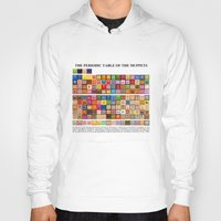 periodic table Hoodies featuring The Periodic Table of the Muppets by Mike Boon