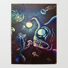 The Mermaid and The Angler by Mary Bottom Poster