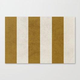 vintage gold stripes Canvas Print