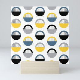 Stripes and semicircles 2 Mini Art Print