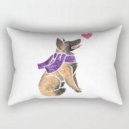 Watercolour Belgian Shepherd Rectangular Pillow