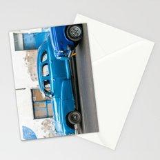 Vintage Blue Cars Stationery Cards