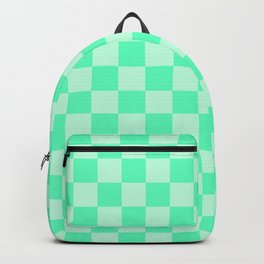 Mint Green Check Backpack