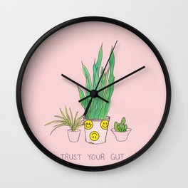 trust your gut plants Wall Clock