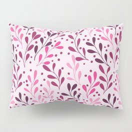 pink,magenta and lili abstract seaweed plants seamless pattern Pillow Sham