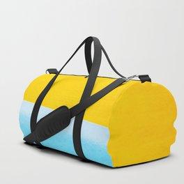 Sea & Sand Watercolor painting Abstract Duffle Bag