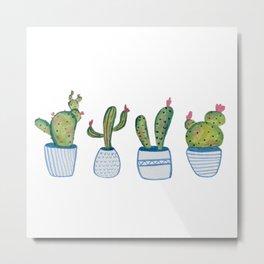 The Cactus Crew Metal Print