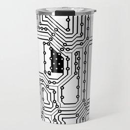 Circut Pattern Travel Mug
