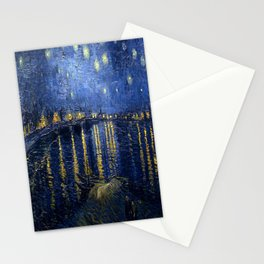 Vincent van Gogh's Starry Night Over the Rhone Stationery Cards