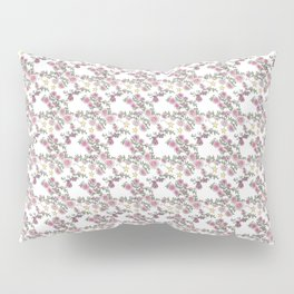 Project 52 | Pale Roses on White Pillow Sham