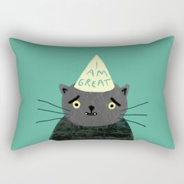 "Fat Olive ""I Am Great"" Rectangular Pillow"