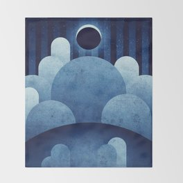 The Moon - Ina Caldera Throw Blanket