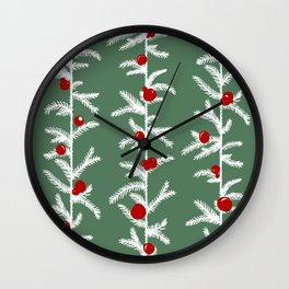 Scandinavian winter forest Wall Clock