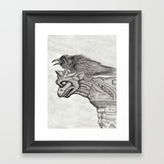 A Ravens Perch Framed Art Print