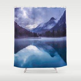 She Haunts Me Shower Curtain