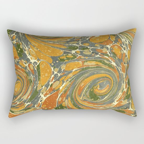 Old Marbled Paper 03 Rectangular Pillow