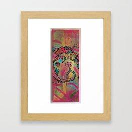 Pug Love by Barrie J Davies 2015 Framed Art Print