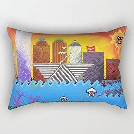 8 Bit Milwaukee Rectangular Pillow
